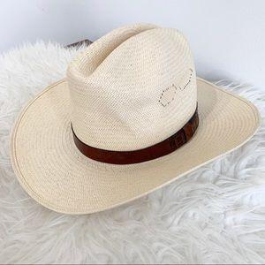 Stetson rancher straw hat cowboy western cowgirl